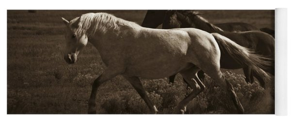 Wild Mustangs Of New Mexico 10 Yoga Mat