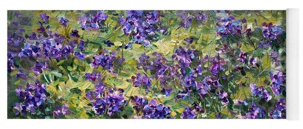 Wild Violets  Yoga Mat