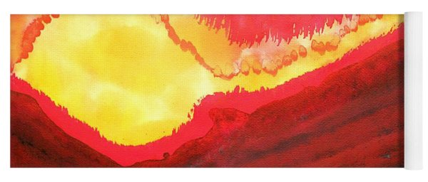 Wildfire Original Painting Yoga Mat