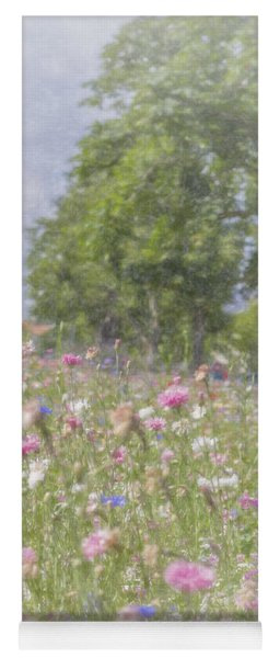 Wildflower Impressionism Yoga Mat