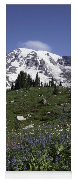 Wildflower Season At Mt Rainier Yoga Mat