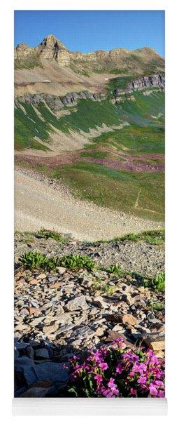 Wildflowers Above Timpanogos Basin At Sunrise Yoga Mat
