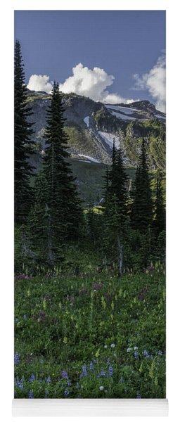 Wildflowers At Rainier Yoga Mat