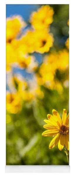 Wildflowers Standing Out Abstract Yoga Mat