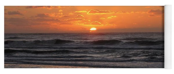 Yoga Mat featuring the photograph Wildwood Beach Here Comes The Sun by David Dehner
