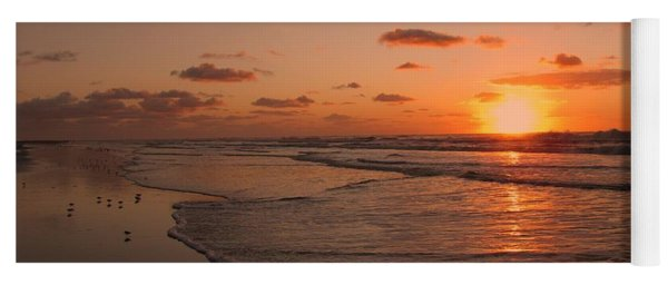 Yoga Mat featuring the photograph Wildwood Beach Sunrise II by David Dehner