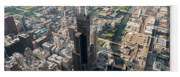 Willis Tower Southwest Chicago Aloft Yoga Mat