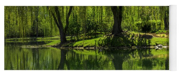 Willows Weep Into Their Reflection  Yoga Mat