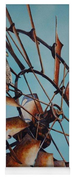 Windmill And Hawk Yoga Mat