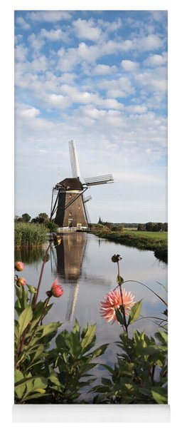 Windmill Landscape In Holland Yoga Mat