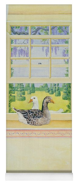 Window Geese Yoga Mat