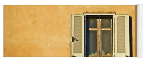 Window Of Rome Yoga Mat