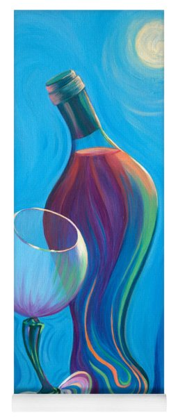 Yoga Mat featuring the painting A Wine Affair by Sandi Whetzel