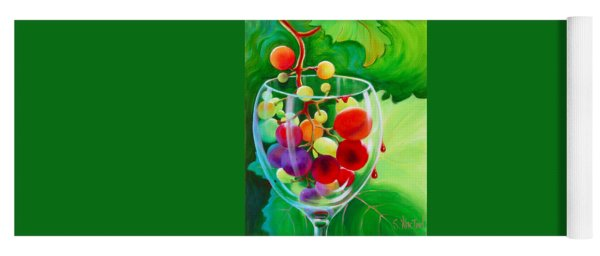Yoga Mat featuring the painting Wine On The Vine IIi by Sandi Whetzel