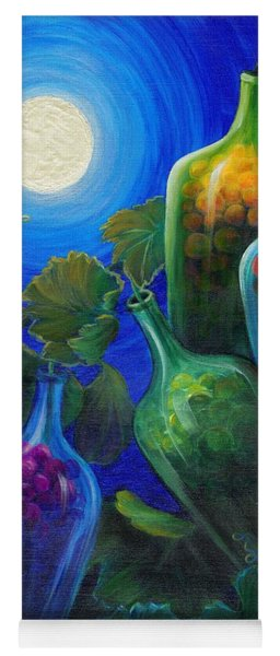 Yoga Mat featuring the painting Wine On The Vine by Sandi Whetzel