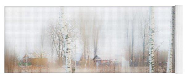 Winter Aquarel. Russia Yoga Mat