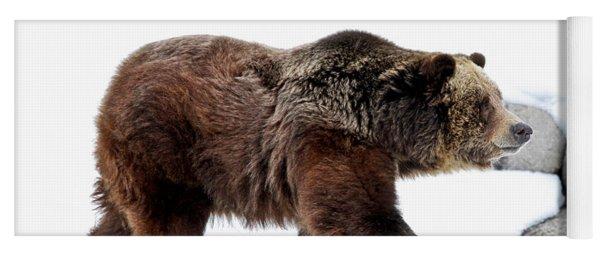 Winter Bear Walk Yoga Mat