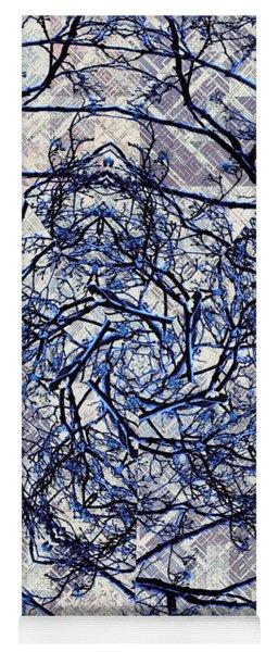 Winter Blue Kaleidoscope Yoga Mat