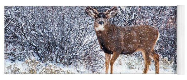 Winter Buck Yoga Mat