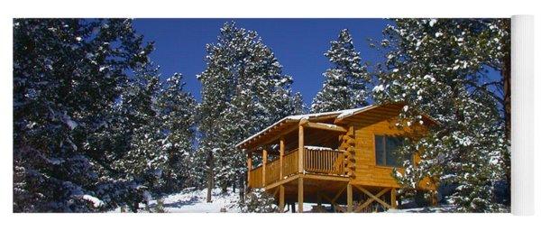 Winter Cabin Yoga Mat