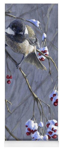 Winter Harvest 1 Chickadee Painting Yoga Mat