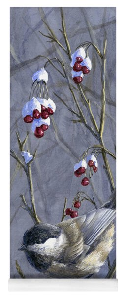 Winter Harvest 2 Chickadee Painting Yoga Mat