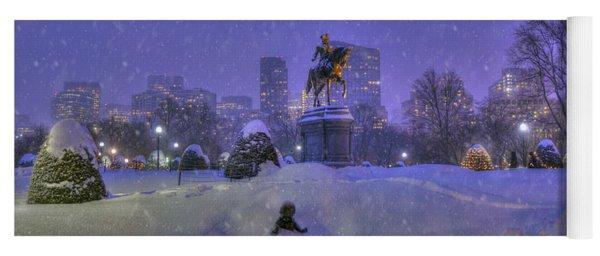 Winter In Boston - George Washington Monument - Boston Public Garden Yoga Mat