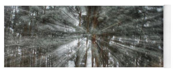 Winter Light In A Forest Yoga Mat
