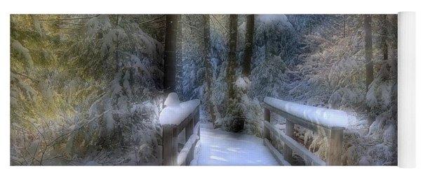 Winter Light On Bridge Yoga Mat