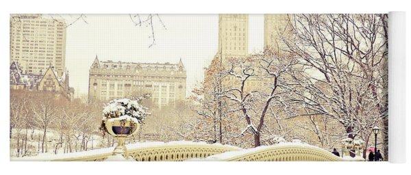 Winter - New York City - Central Park Yoga Mat