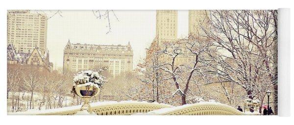 Winter - New York City - Central Park Yoga Mat