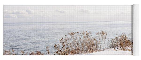 Winter Shore Of Lake Ontario Yoga Mat