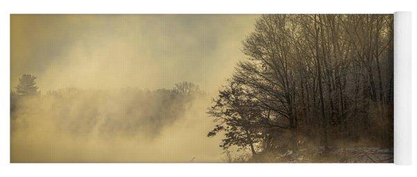 Winter Sunrise On The Wisconsin River Yoga Mat