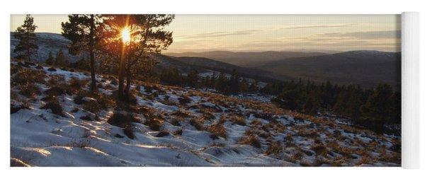 Winter Sunset - Hills Of Cromdale Yoga Mat