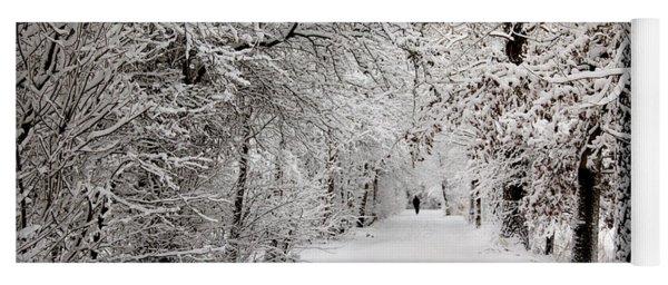 Winter Walk In Fairytale  Yoga Mat
