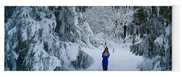Winter Wonderland Yoga Mat