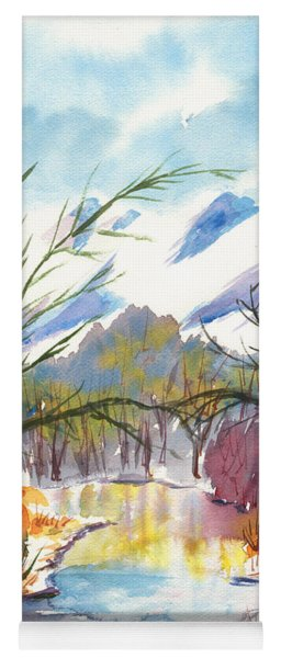 Wintry Reflections Yoga Mat