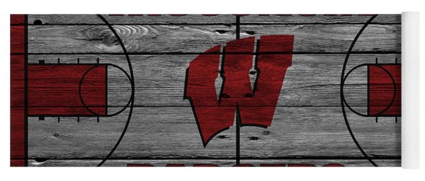 Wisconsin Badger Yoga Mat