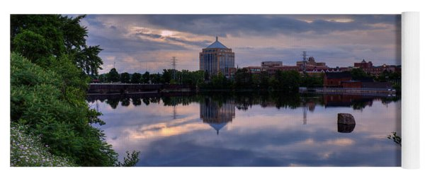 Wisconsin River Reflection Yoga Mat