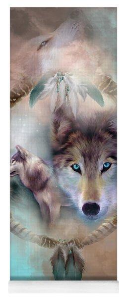 Wolf - Dreams Of Peace Yoga Mat