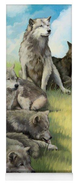 Wolf Gathering Lazy Yoga Mat