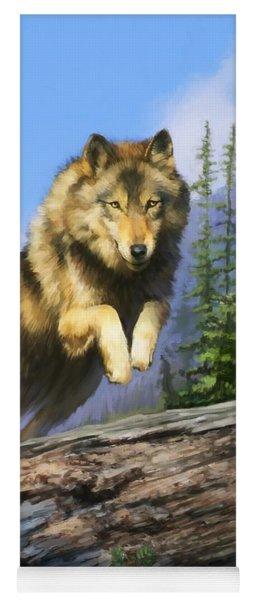Wolf Run Yoga Mat