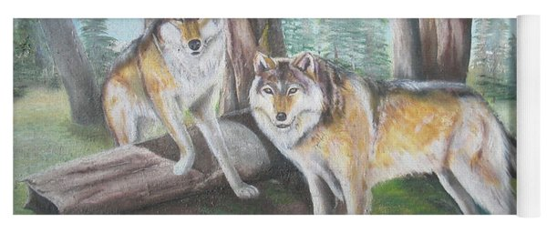 Wolves In The Forest Yoga Mat