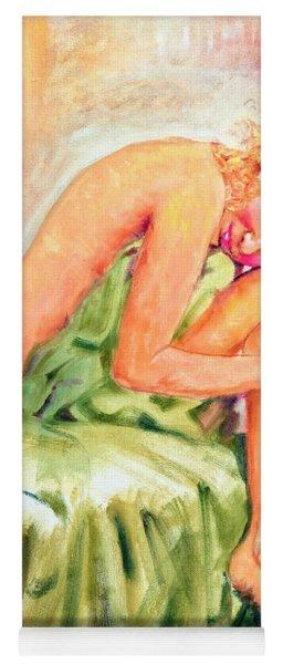 Woman In Blissful Ecstasy Yoga Mat