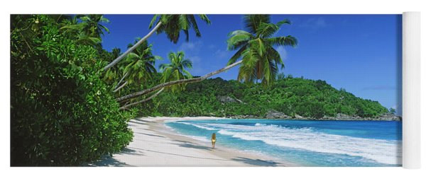 Woman Walking On The Beach, Anse Yoga Mat