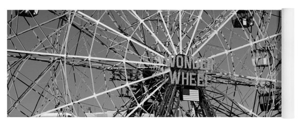 Wonder Wheel Of Coney Island In Black And White Yoga Mat