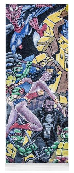 Wonder Woman Abstract Yoga Mat