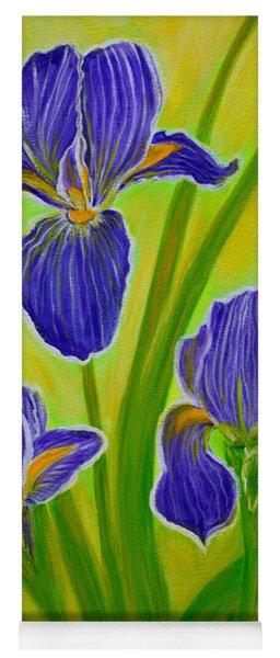 Wonderful Iris Flowers 3 Yoga Mat