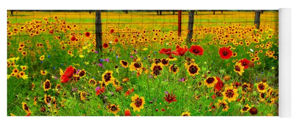 Wonderful Wildflowers Yoga Mat