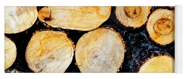 Wood Pile Yoga Mat